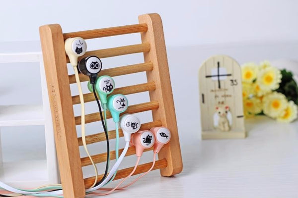 Cute Cat Earphones with Earphone Case
