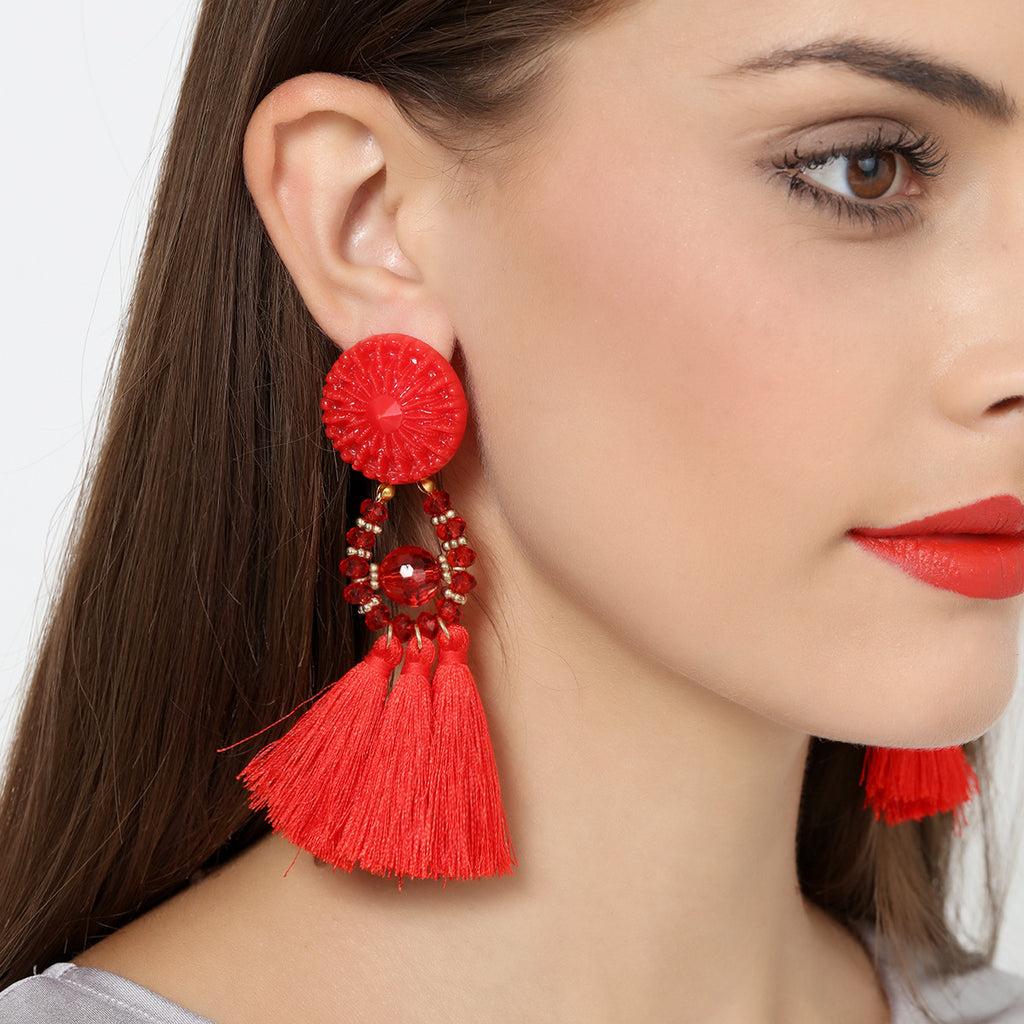 Boho Drop Dangle Fringe tassel Earring