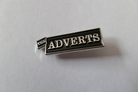THE ADVERTS PUNK METAL BADGE