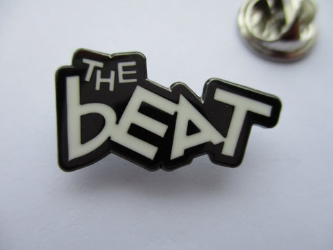 THE BEAT b&w logo ska METAL BADGE