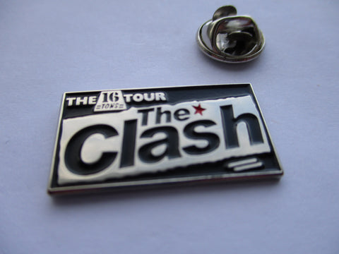 THE CLASH 16 tons PUNK METAL BADGE few only