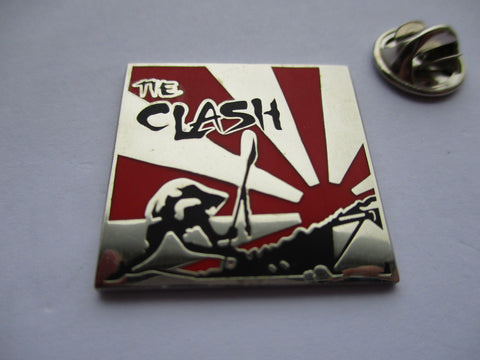 THE CLASH japan calling punk metal badge