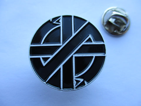 CRASS serpent embossed B&W anarcho PUNK METAL BADGE very few!!