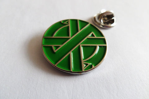CRASS serpent (green / silver) anarcho PUNK METAL BADGE very few!!