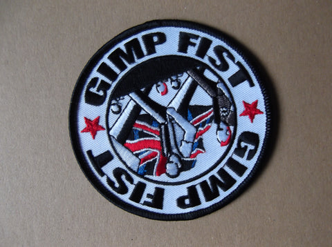GIMP FIST embroidered oi! punk PATCH