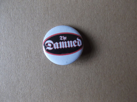 THE DAMNED oval logo punk badge