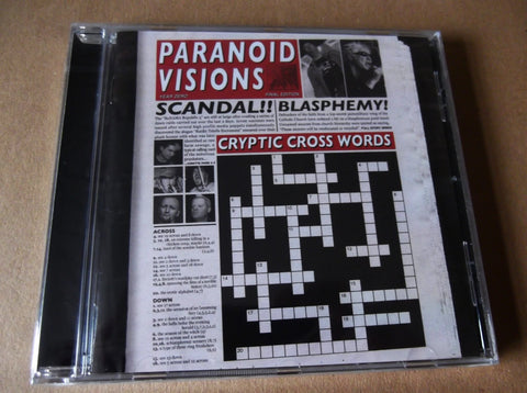 PARANOID VISIONS cryptic crosswords CD - Savage Amusement