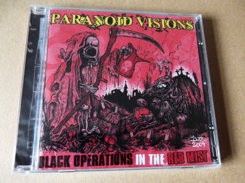 PARANOID VISIONS black ops in the red mist CD - BACK IN STOCK! - Savage Amusement