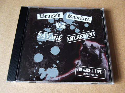 v/a BRUISED KNUCKLES vs SAVAGE AMUSEMENT CD (Oi!/Punk comp) - Savage Amusement