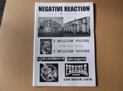 NEGATIVE REACTION & HAGL punk & oi fanzines HALF PRICE! - Savage Amusement