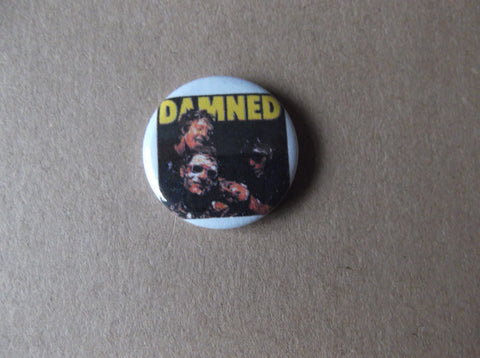 THE DAMNED punk badge ( Various designs - 50p each ) - Savage Amusement
