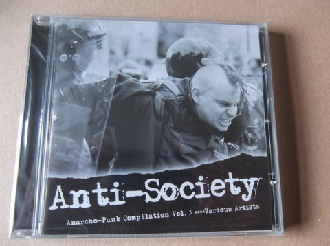 v/a ANTI SOCIETY vol 3 CD anarcho comp w CRASS SEARS AOA ALTERNATIVE etc - Savage Amusement