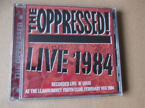THE OPPRESSED Live 1984 CD - Savage Amusement