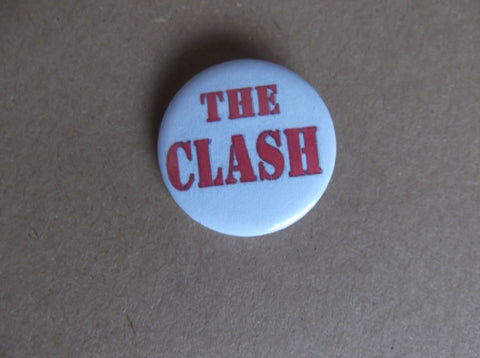 THE CLASH punk badge (VARIOUS DESIGNS 50p each) - Savage Amusement