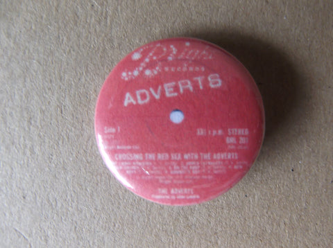 THE ADVERTS crossing red sea label punk badge - Savage Amusement