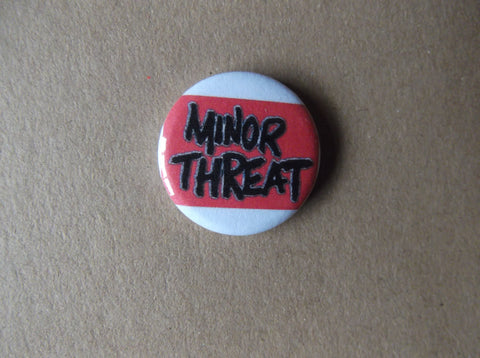 MINOR THREAT punk badge