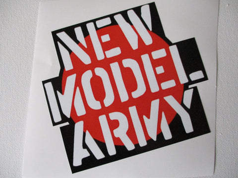 NEW MODEL ARMY large shaped PUNK VINYL STICKER very few