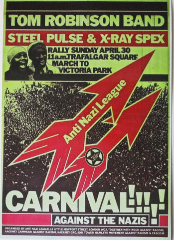 ROCK AGAINST RACISM / ANL carnival poster extra large PUNK VINYL STICKER