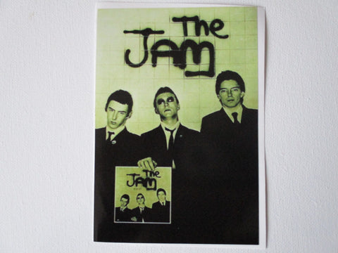 THE JAM in the city large PUNK VINYL STICKER mod weller