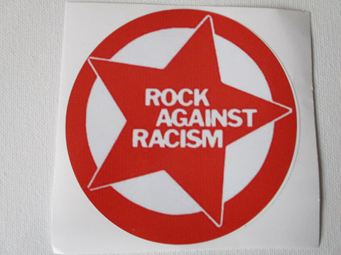 ROCK AGAINST RACISM large red/white  PUNK VINYL STICKER