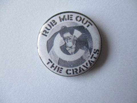 THE CRAVATS punk badge