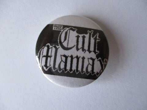 CULT MANIAX punk badge
