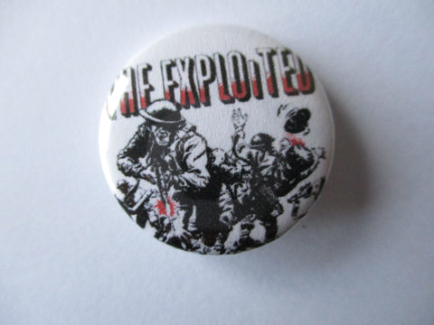 EXPLOITED punk badge (VARIOUS DESIGNS - 50p each)