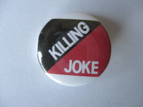 KILLING JOKE logo post punk badge