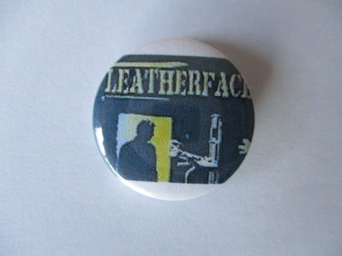 LEATHERFACE cherry knowle punk badge
