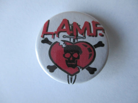 JOHNNY THUNDERS & THE HEARTBREAKERS l.a.m.f. punk badge