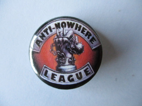 ANTI NOWHERE LEAGUE (new logo) punk badge