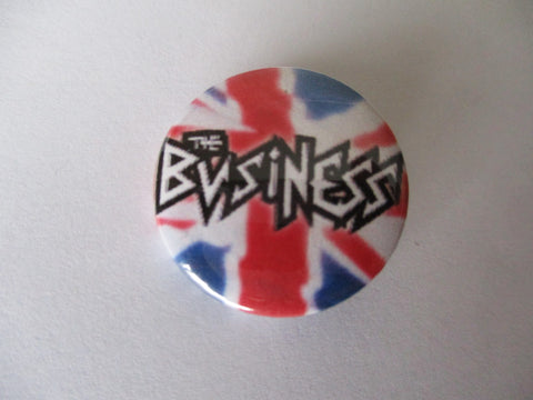 THE BUSINESS punk badge (50p each) VARIOUS DESIGNS