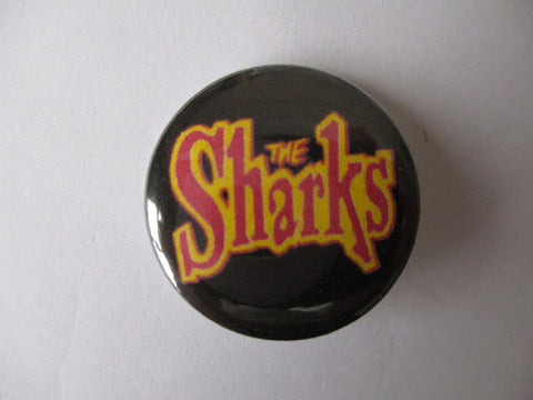 THE SHARKS psychobilly punk badge