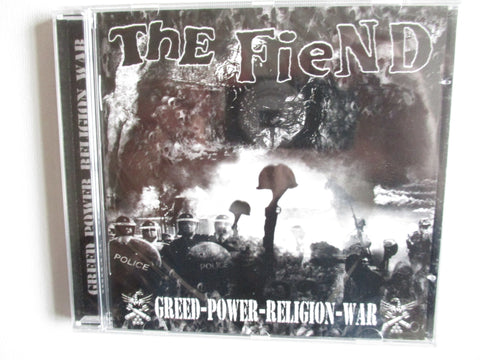 THE FIEND greed power religion war CD one only