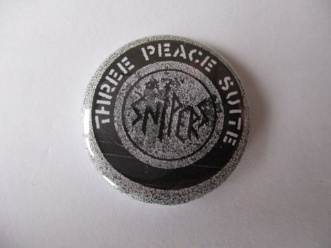 THE SNIPERS anarcho punk badge