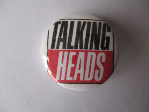 TALKING HEADS new wave punk badge