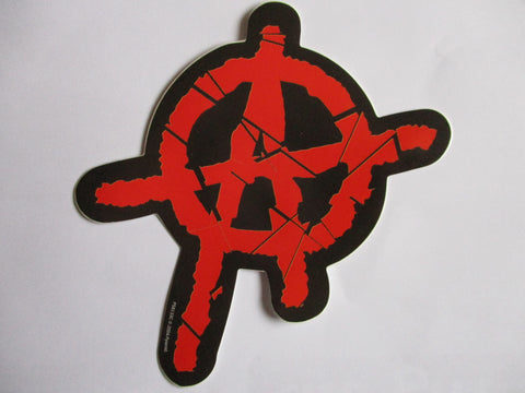 ANARCHY (shaped) PUNK VINYL STICKER