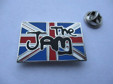 THE JAM union jack MOD PUNK METAL BADGE weller