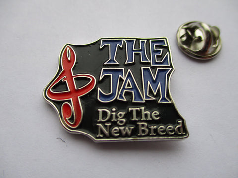THE JAM dig the new breed shaped MOD METAL BADGE weller