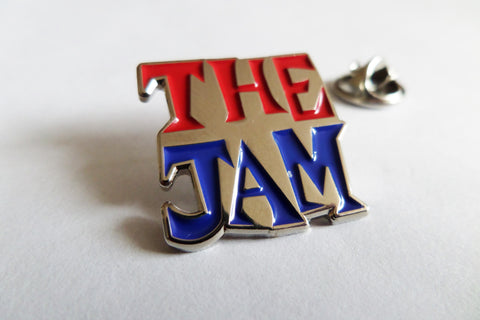 THE JAM all mod cons logo (blue/red silver) PUNK MOD METAL BADGE weller