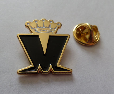 MADNESS crown logo (gold/b&w) SKA METAL BADGE few only
