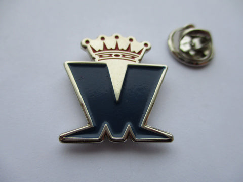 MADNESS crown logo navy/red/silver SKA METAL BADGE few only
