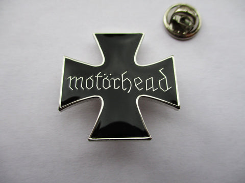 MOTORHEAD shaped PUNK METAL BADGE