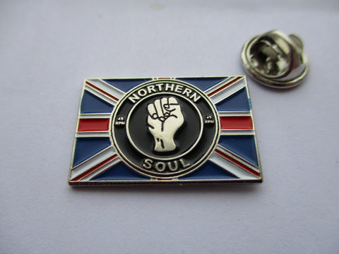 NORTHERN SOUL union jack SCOOTERIST METAL BADGE