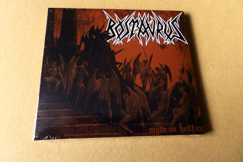 BOSTAURUS made in hellfire CD (Contra Recs HC punk metal ) SALE - Savage Amusement