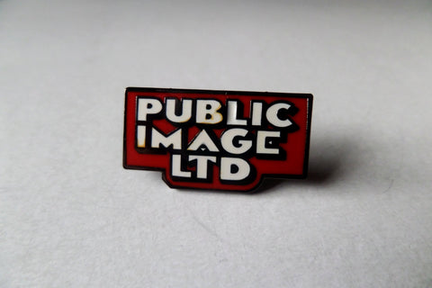 PUBLIC IMAGE LTD vintage logo PUNK METAL BADGE - Savage Amusement