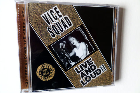VICE SQUAD live & loud CD BACK IN STOCK