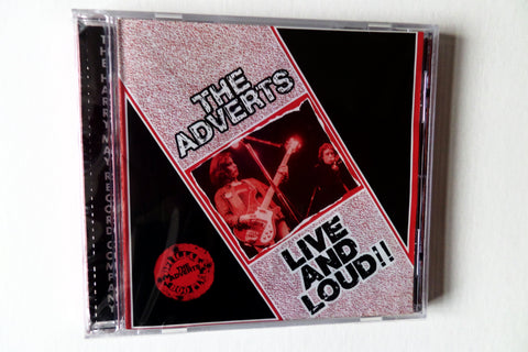 THE ADVERTS live & loud CD  BACK IN STOCK - Savage Amusement