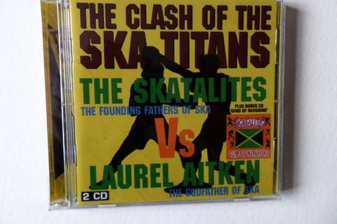 THE SKATALITES vs LAUREL AITKEN the clash of the ska titans DBLE CD - Savage Amusement