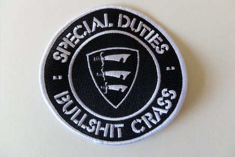 SPECIAL DUTIES bullshit crass embroidered oi! punk PATCH - Savage Amusement